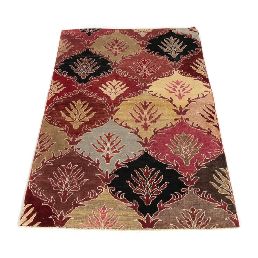 3'2 x 5'0 Hand-Knotted Afghan Baluch Wool Rug