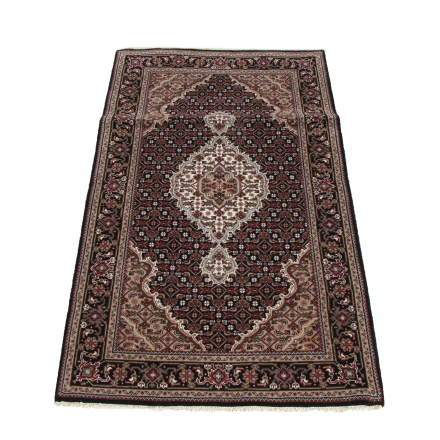 3'0 x 5'1 Hand-Knotted Indian Mahi Tabriz Style Wool Rug