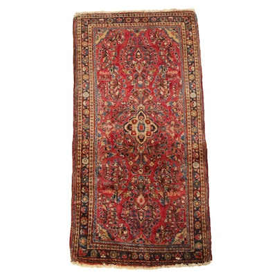 2' x 4'2 Hand-Knotted Persian Kirman Rug