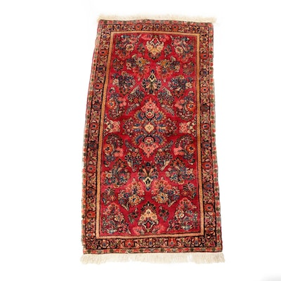 2'5 x 4'11 Hand-Knotted Persian Kirman Rug