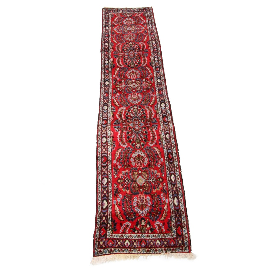 2'6 x 11'10 Hand-Knotted Persian Kirman Runner Rug