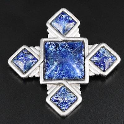 Vintage Yves Saint Laurent Glass Brooch
