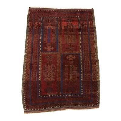 3'1 x 4'10 Hand-Knotted Caucasian Kazak Rug
