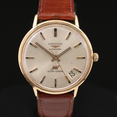 Vintage Longines Ultra-Chron 18K Gold Automatic Wristwatch