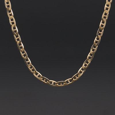 14K Yellow Gold Mariner Link Chain