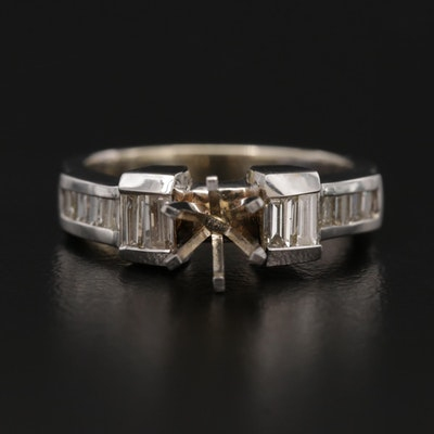 14K Diamond Semi Mount