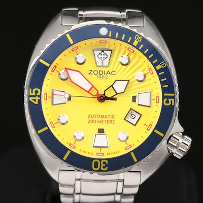 Zodiac Oceanaire Stainless Steel Automatic Wristwatch, 1994