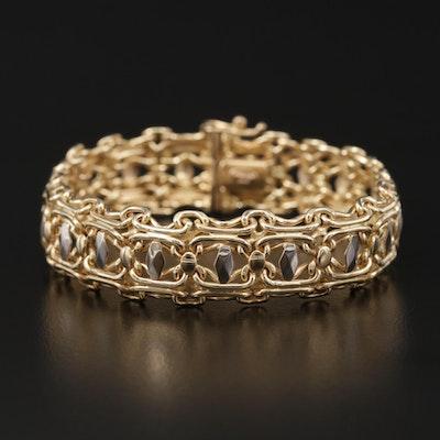 Italian 14K Gold Fancy Link Bracelet