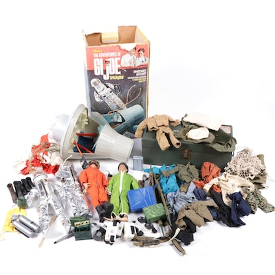 1964 G.I. Joe Action Figures, Space Shuttle and Military Accessories