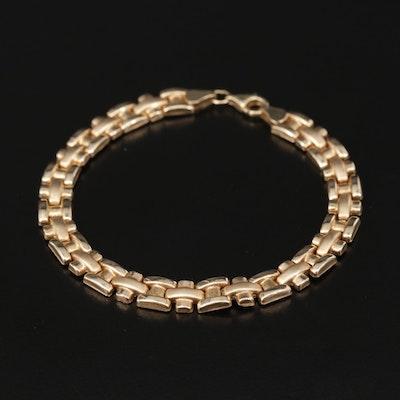 "10K Yellow Gold ""H"" Chain Link Bracelet"