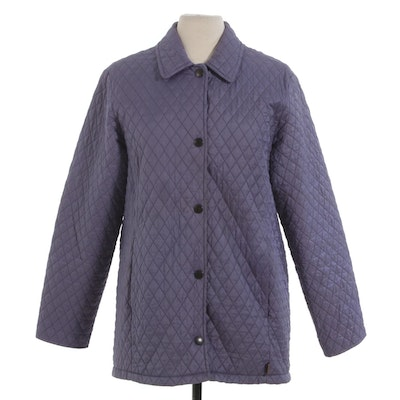 Barbour Quilted Nylon Jacket in Lilac