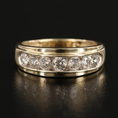 10K Yellow Gold 1.02 CTW Diamond Channel Ring