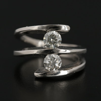 Contemporary 14K White Gold 1.02 CTW Diamond Ring