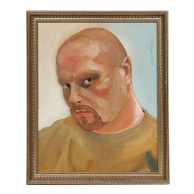 Avery Dellinger Self-Portrait Oil Painting