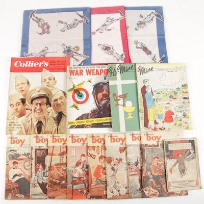 1950's Assortment of Catholic Boy, Magazines Ephemera Sports Booklets and More