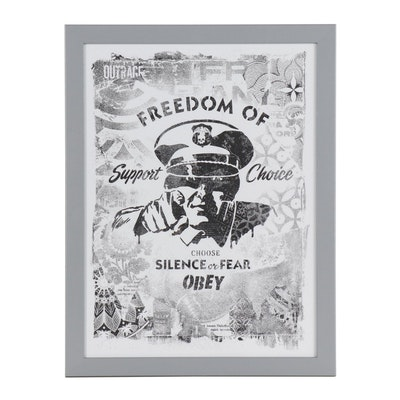 """Offset Print after Shepard Fairey """"Freedom of Choice"""""""