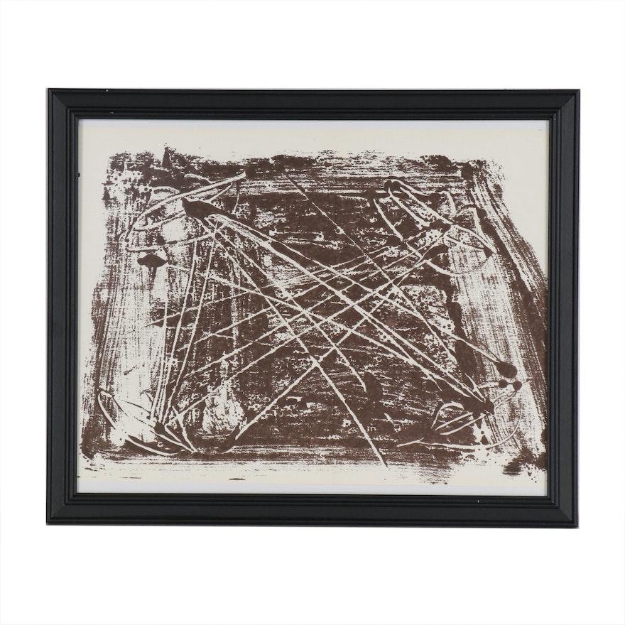Antoni Tàpies Lithograph for Derrière le Miroir, No. 210, 1974