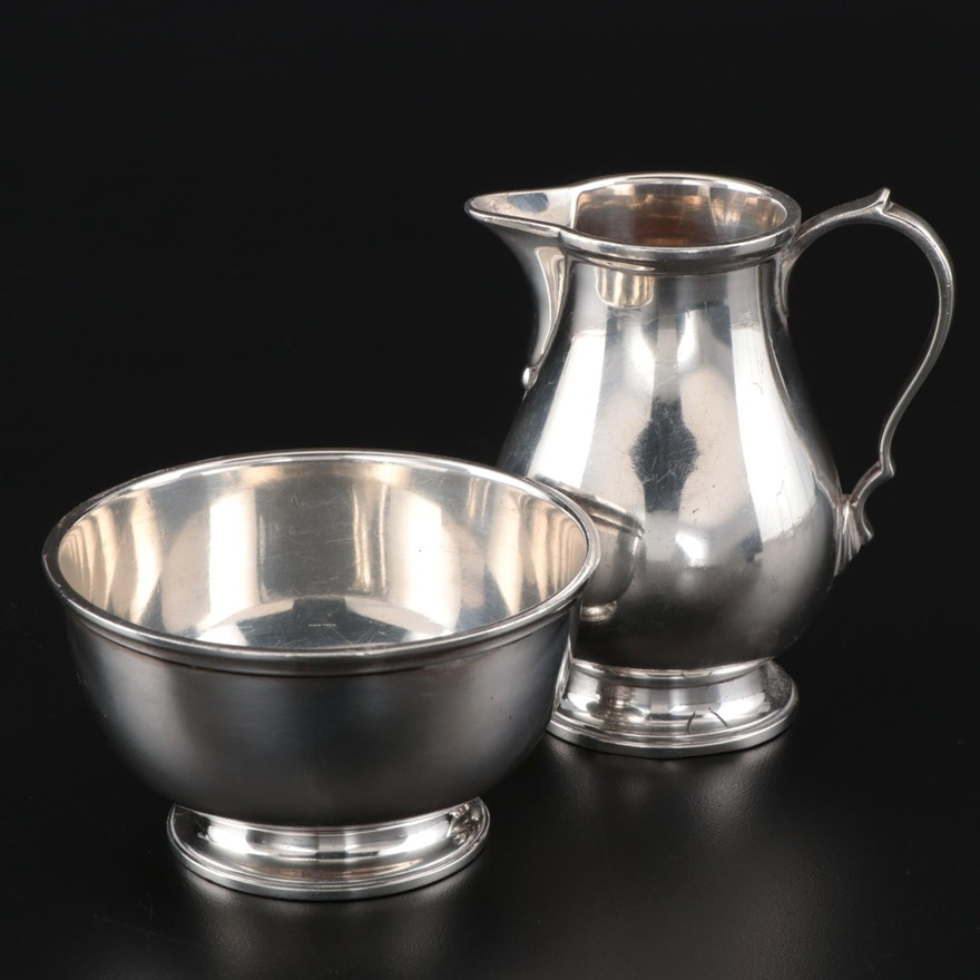 TIffany & Co. Revere Style Sterling Creamer and Sugar, 1947-1956