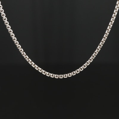 David Yurman Sterling Silver Box Chain