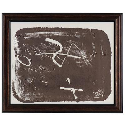 """Antoni Tàpies Lithograph for """"Derrière le Miroir"""", 1974"""