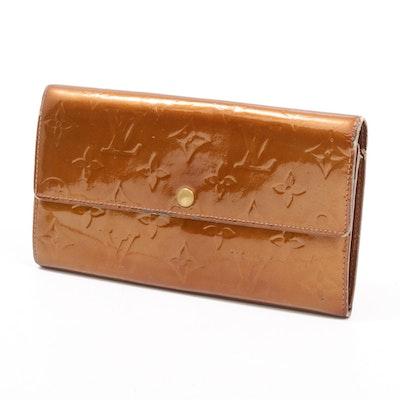 Louis Vuitton Monogram Vernis Leather Continental Wallet in Bronze