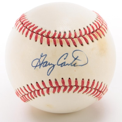 Gary Carter Signed National League Baseball  COA