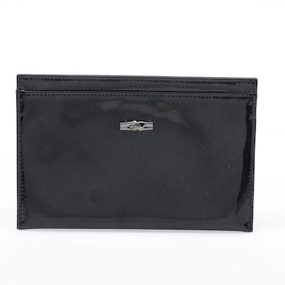 Longchamp Roseau Black Patent Leather Wallet