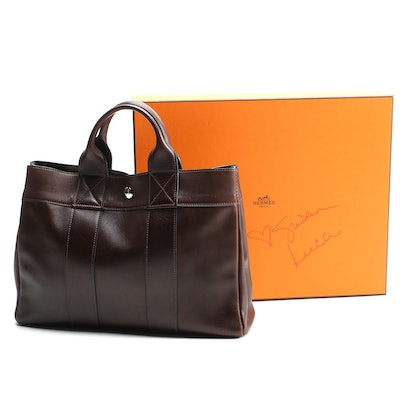 Hermès Fourre Tout PM in Cocoa Box Calf Leather with Box Signed by Susan Lucci