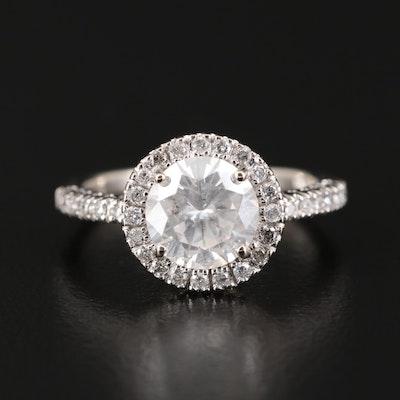 14K White Gold 1.88 CTW Diamond Ring