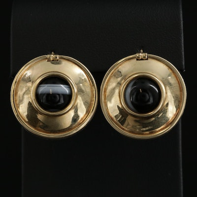 Vintage Paloma Picasso for Tiffany & Co. Sterling and 18K Onyx Earrings