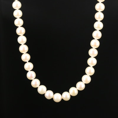 Sterling Silver Pearl Beaded Necklace