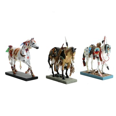 "Westland ""The Trail of Painted Ponies"" Hand-Painted Figurines"