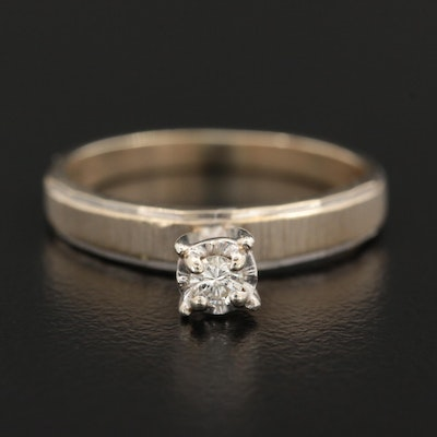 Vintage 14K Gold Diamond Solitaire Ring