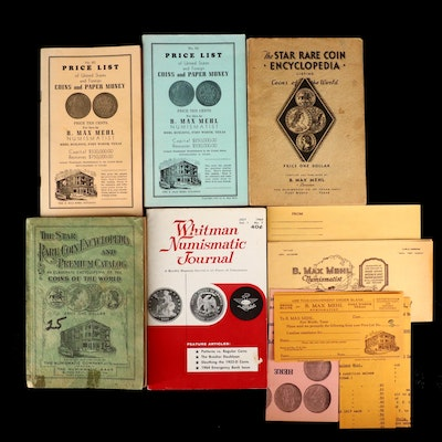 Five Vintage Numismatic Price Guide and Reference Books, Four by Max Mehl