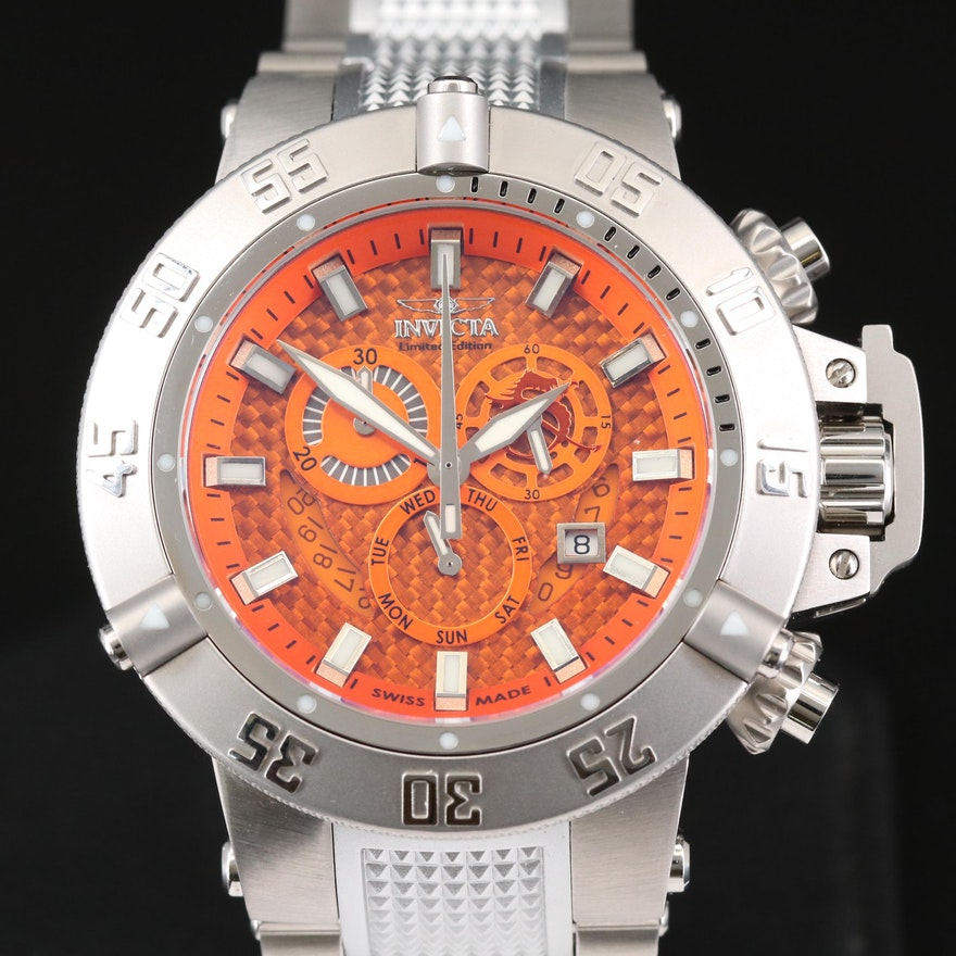 Invicta Subaqua Noma III Stainless Steel Quartz Chronograph Wristwatch