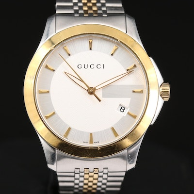 Gucci Stainless Steel and Gold PVD Two Tone Quartz Wristwatch