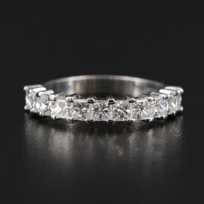Platinum 1.21 CTW Princess Cut Diamond Band