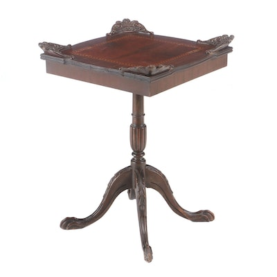 George III Style Inlaid Mahogany End Table, circa 1940