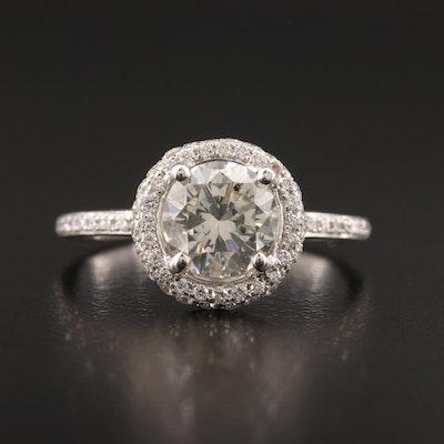 14K White Gold 1.83 CTW Diamond Ring