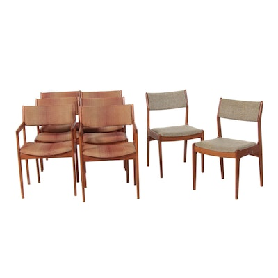 Eight D-Scan Danish Modern Teak Chairs, Mid-20th Century