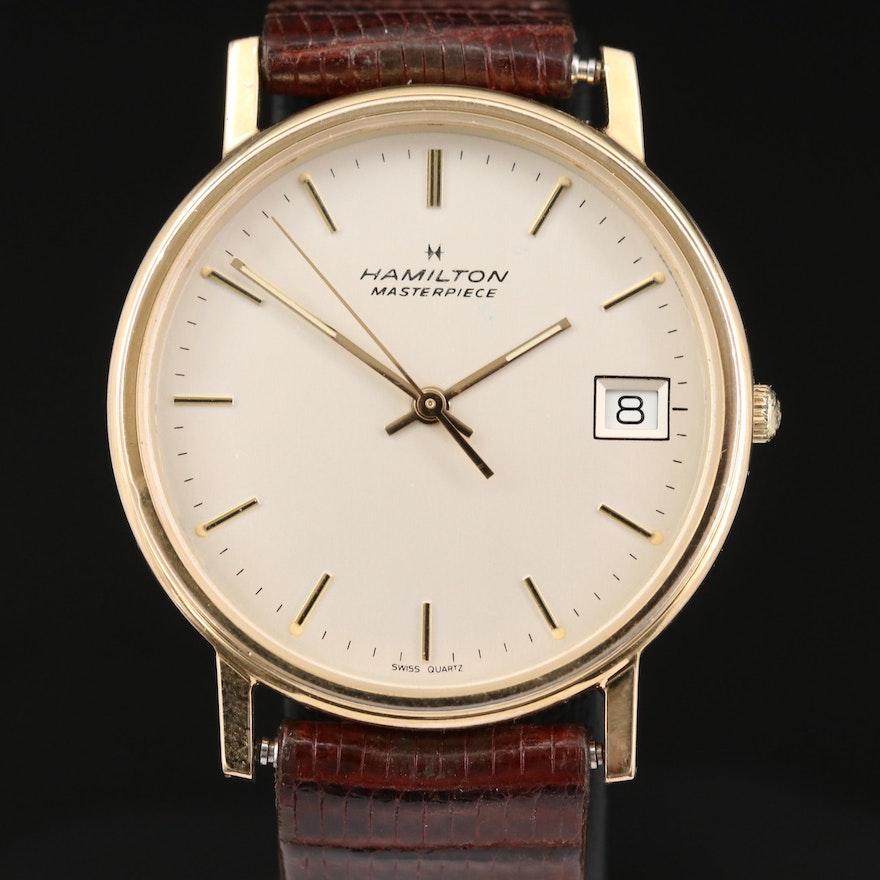 Hamilton Masterpiece 10K Gold Filled Quartz Wristwatch, Vintage