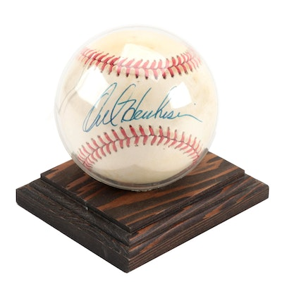 Orel Hershiser Signed National League Baseball  COA