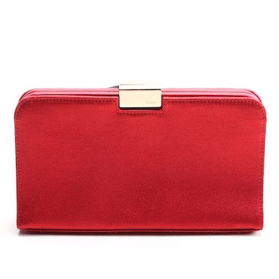 Gucci Red Satin Frame Clutch
