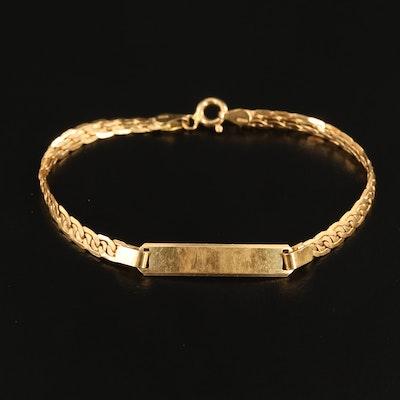 18K Yellow Gold ID Bracelet