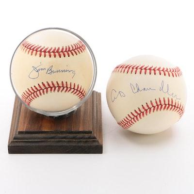 Jim Bunning and A.B. Chandler Signed Baseballs    COA