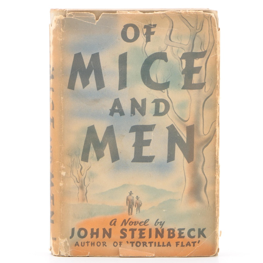 "First Edition/Second State ""Of Mice and Men"" by John Steinbeck with Dust Jacket"