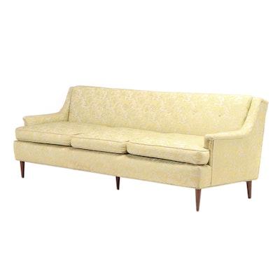 Mid Century Modern Shillito's Upholstered Sofa, Mid-20th Century
