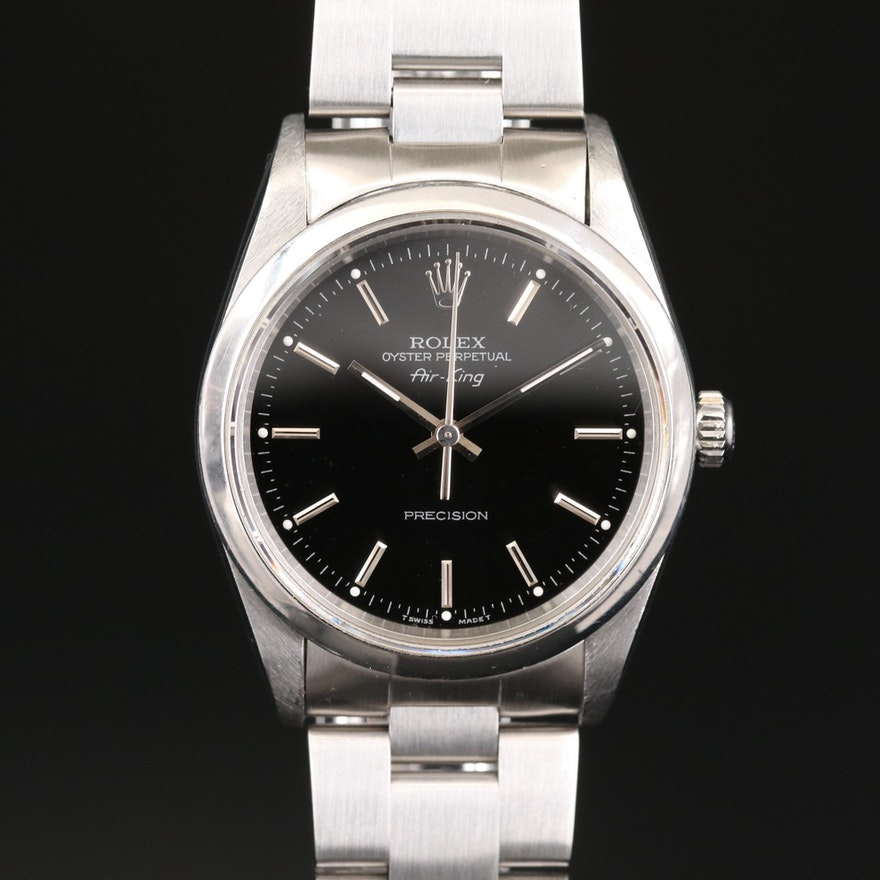 Rolex Oyster Perpetual Air-King Stainless Steel Automatic Wristwatch, 1996