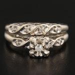 Vintage 14K Gold Diamond Ring Set