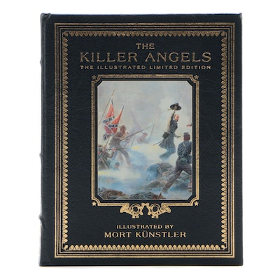 """Easton Press Signed Illustrated """"The Killer Angels"""" by Michael Shaara, 1996"""